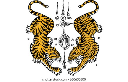 8072059908a99 Thai Tattoo Images, Stock Photos & Vectors | Shutterstock