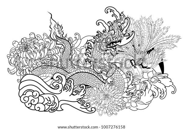 Naga of the Seas Coloring Page | Mandala coloring pages, Mandala ... | 428x600
