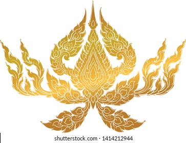 Thai traditional tattoo,  Thai yantra vector