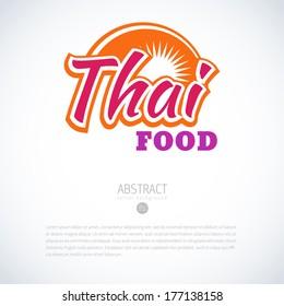 Thai vector menu design template