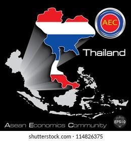 Thailand in Asean Economic Community, AEC, Vector