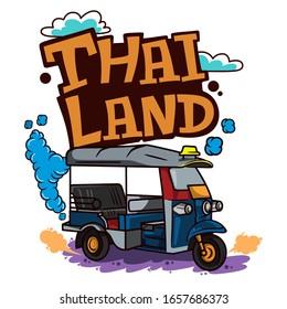 Thailand bangkok taxi market t shirt vector design