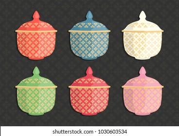 Thailand Benjarong Ceramic cup