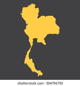 Thailand border,map. Vector illustration EPS8.