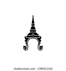 Thailand culture Chada crown icon isolated vector on white background