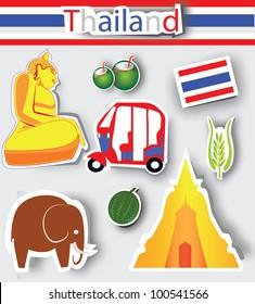 Thailand culture icons,Logo