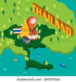 Thailand isometric map
