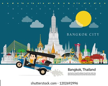 Thailand landmark and travel Taxi Thailand (Tuk Tuk)