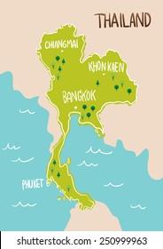 Thailand Map Drawing Stock Vectors Images Vector Art Shutterstock