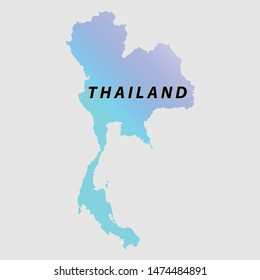 Thailand map for further use in other regions