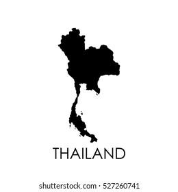 Thailand map in white background