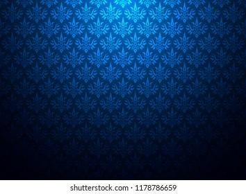 Thailand thai vintage pattern texture blue background. wallpaper design. vector