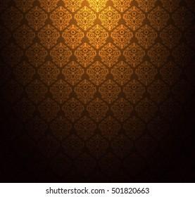 Thailand thai vintage pattern texture background wallpaper vector