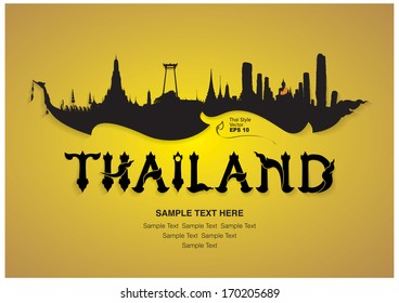 thailand travel design, vector illustration