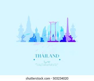 Thailand Travel Vector  Illustration
