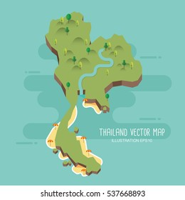 Thailand vector map