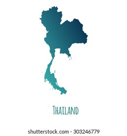 Thailand Map Background White Vector Stock Vector (Royalty Free ...