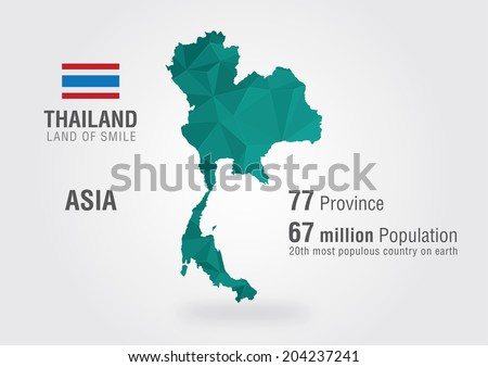 Thailand World Map Thai Map Pixel Stock Vector (Royalty Free ...