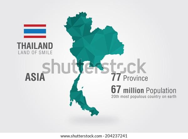 Stock Vektor Thajsko Mapa Sveta Thajska Mapa S Bez Autorskych