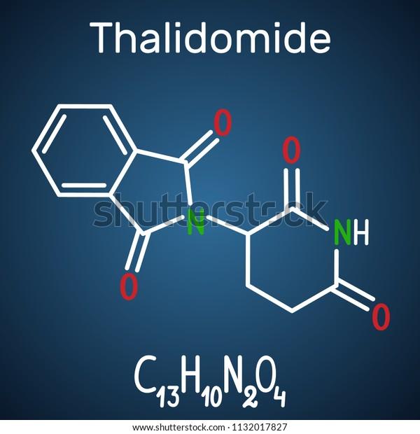 Thalidomide Molecule Used Treatment Multiple Myeloma Stock