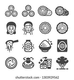 thanaka, tanaka icon set,vector and illustration