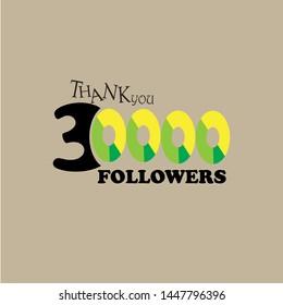 THANK followers. Vector illustration for social networks