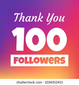 Thank you 100 followers social media post