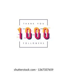 Thank you 1000 followers design template