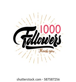 Thank you 1000 followers poster. You can use social networking. Web user celebrates a large number of subscribers or followers.