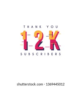 Thank you 12k subscribers design template