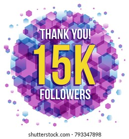 Thank you 15K followers card