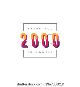 Thank you 2000 followers design template