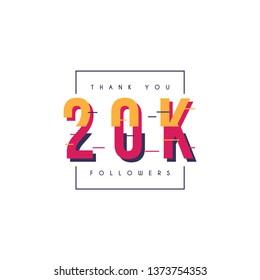 Thank you 20k followers design template