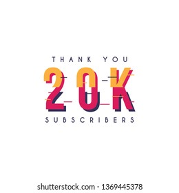 Thank you 20k subscribers design template