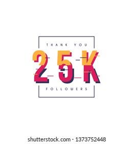 Thank you 25k followers design template