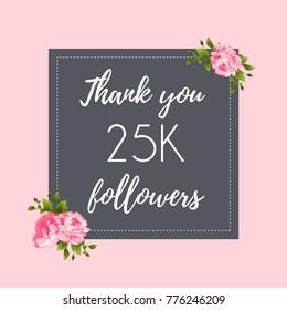 Thank you 25K followers social media banner