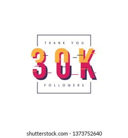 Thank you 30k followers design template