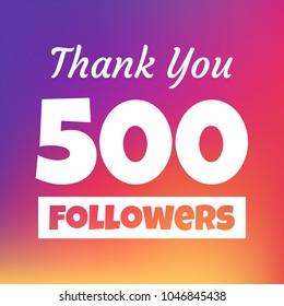 Thank you 500 followers social media post