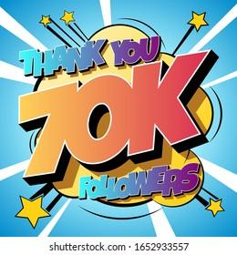 Thank You 70000 followers Comics Banner