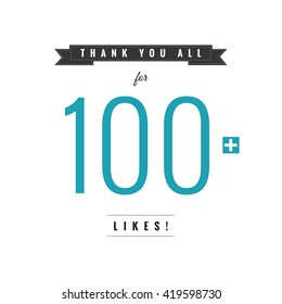 Thank You All For 100 Likes (Vector Design Template)