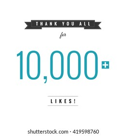 Thank You All For 10,000 Likes (Vector Design Template)