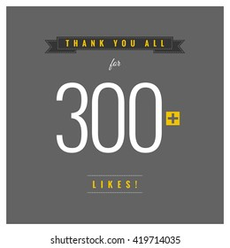 Thank You All For 300 Likes (Vector Design Template)