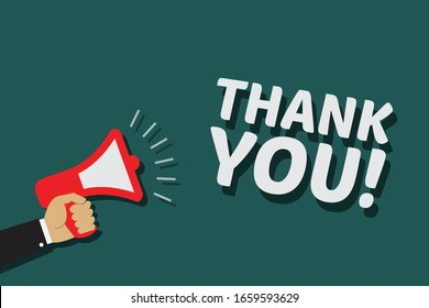 Thank You Background. Vector illustration