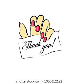 Thank you!. Business card for a beauty salon