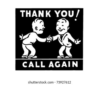 Thank You Call Again 3 - Retro Ad Art Banner
