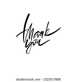 Thank You calligraphy inscription. Modern brush calligraphy. Vector lettering Thank You.