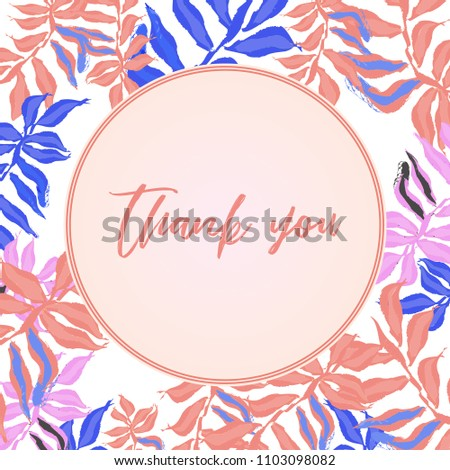 thank you card design cute doodle stock vector royalty free