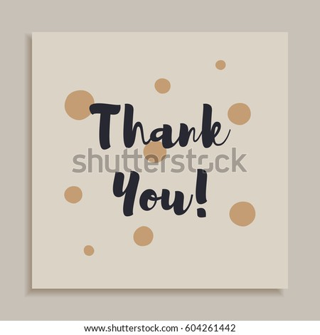 Thank You Card Design Template Scattered Stock Vector Royalty Free