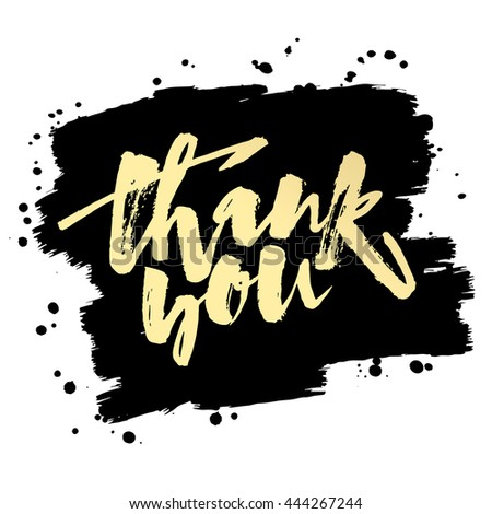 thank you card hand lettering motivation stock vector royalty free