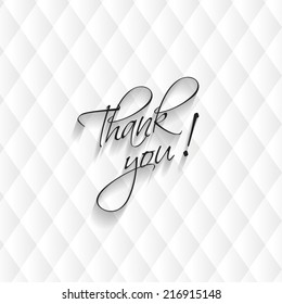 Thank you card, modern leather background. Vector illustration. Eps 10